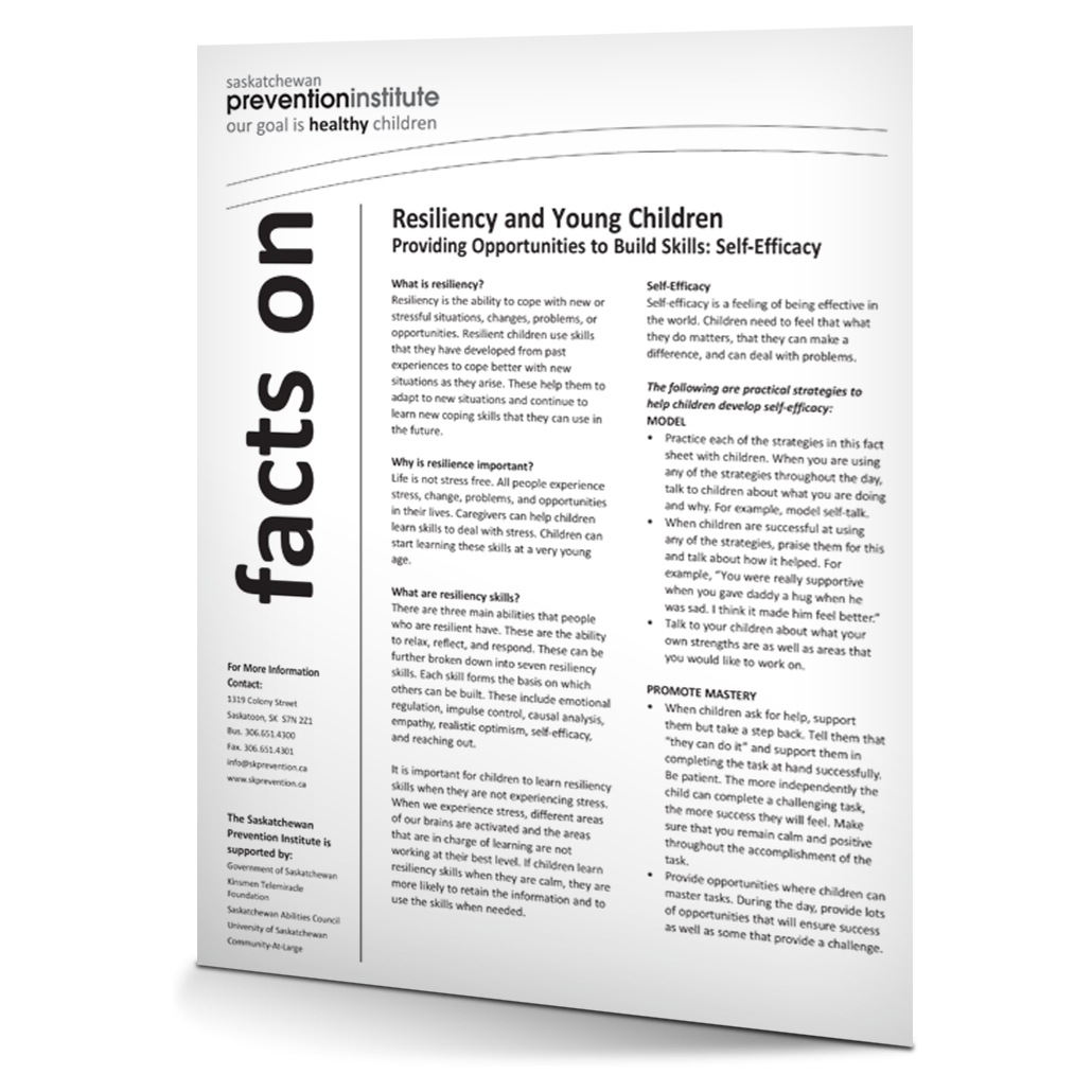Resiliency and Young Children: Self-Efficacy