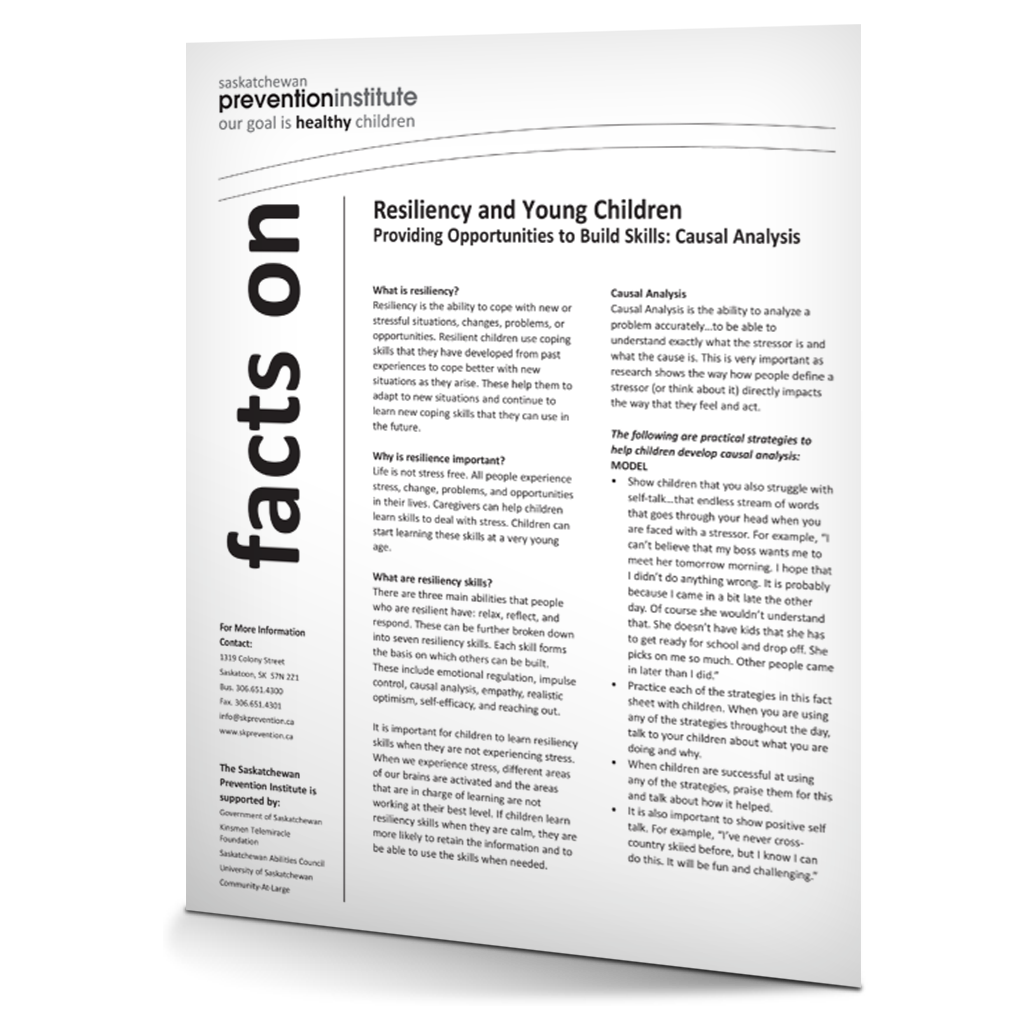 Resiliency and Young Children: Causal Analysis