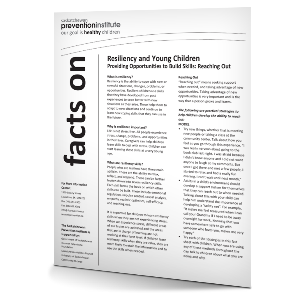 Resiliency and Young Children: Reaching Out