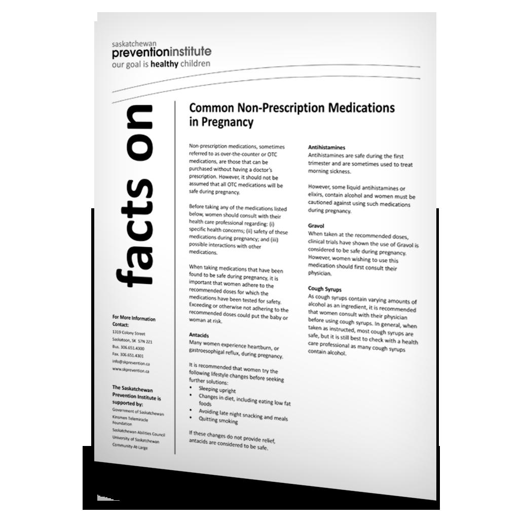Common Non-prescription Medications in Pregnancy