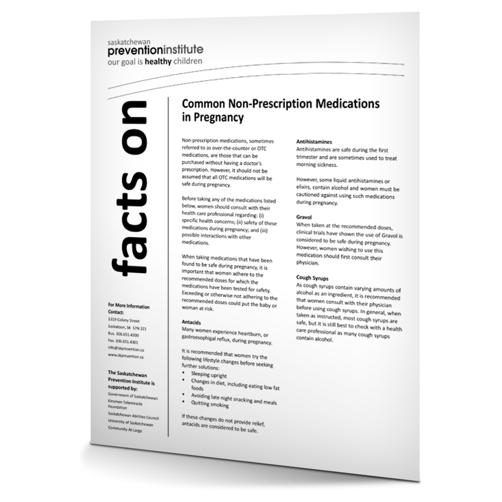 Common Non-prescription Medications in Pregnancy