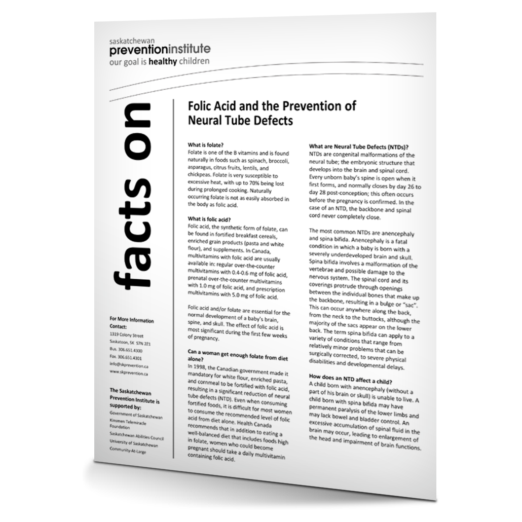 Folic Acid and the Prevention of Neural Tube Defects