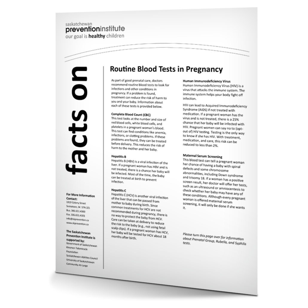 Routine Blood Tests in Pregnancy