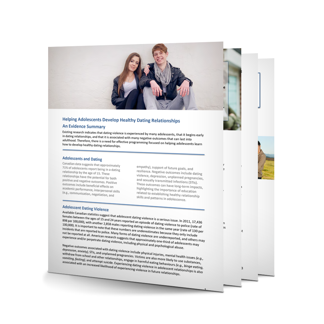 7-536: Helping Adolescents Develop Healthy Dating Relationships: An Evidence Summary