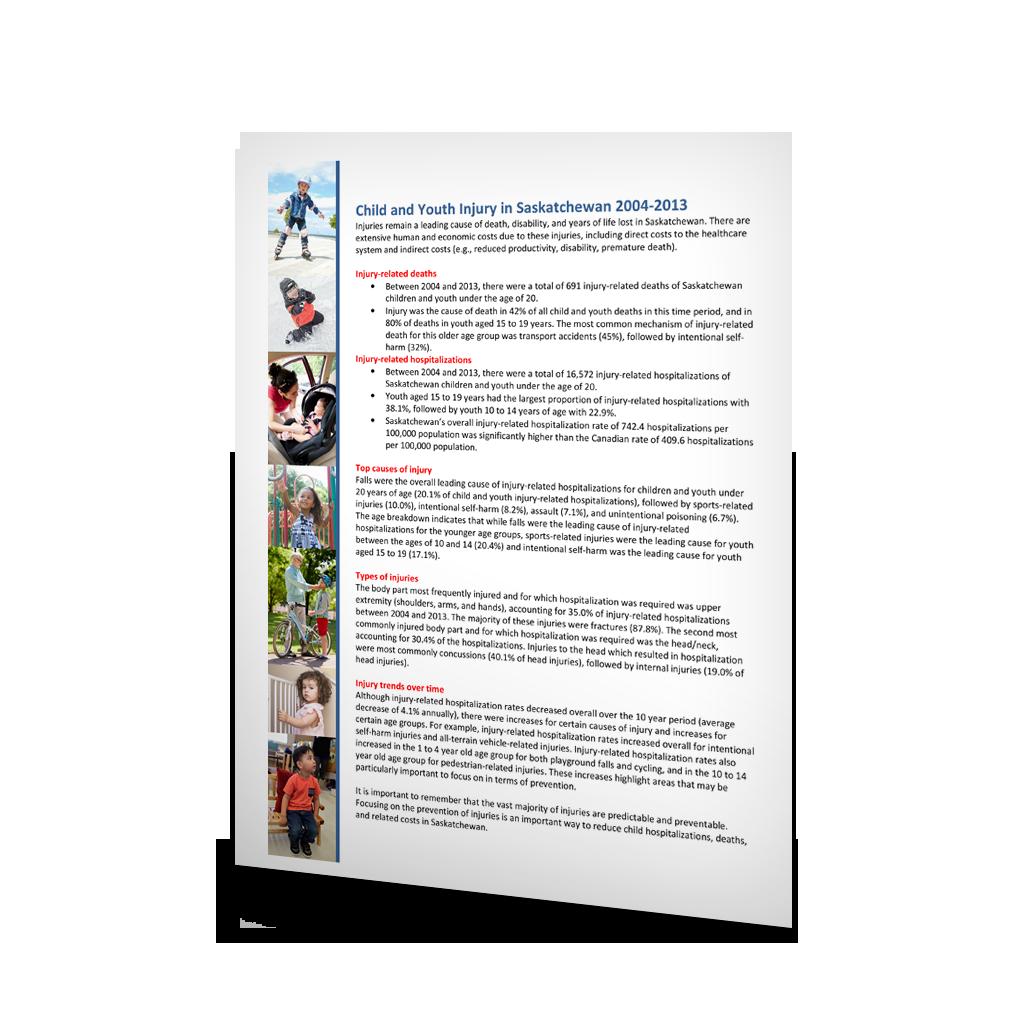 4-009: Child and Youth Injury in Saskatchewan 2004-2013 Summary