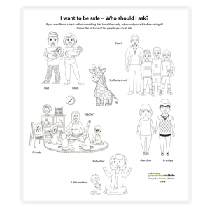 I Want to Be Safe - Story and Colouring Sheet