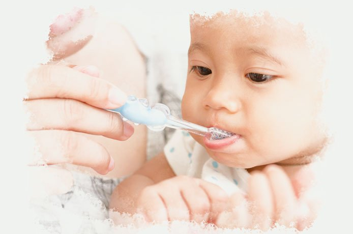 Brush your child's tongue