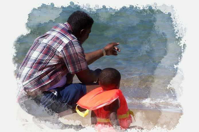 Children should be supervised at all times when around water