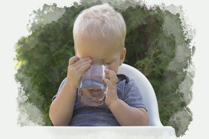 Encourage your child to satisfy her thirst with water.