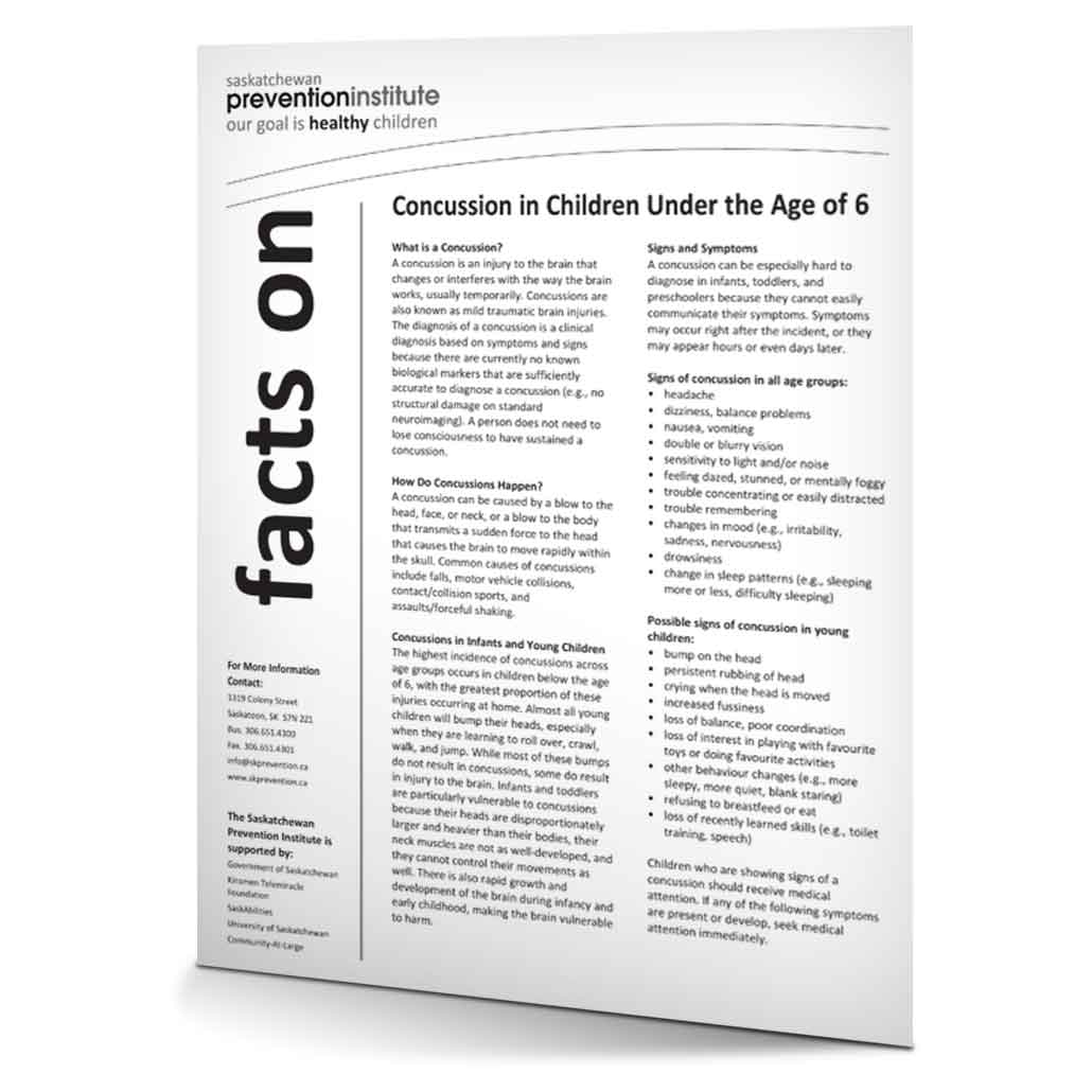 4-001: Concussion in Children Under the Age of 6