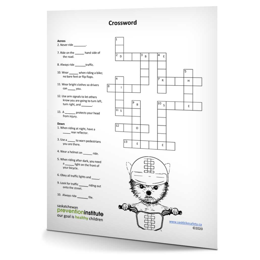 Bicycle Safety 2020 Crossword
