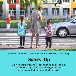 Do Not Walk Behind Car